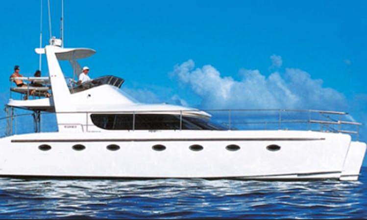 Charter Sophisticat Power Catamaran in Cap Malheureux, Mauritius