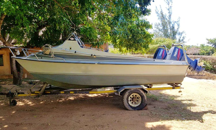 Rent a Twin Powered Boat in Inhassoro, Mozambique