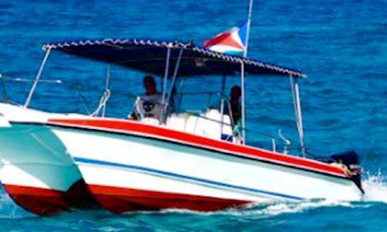 Charter Bella Petra Power Catamaran In La Digue, Seychelles