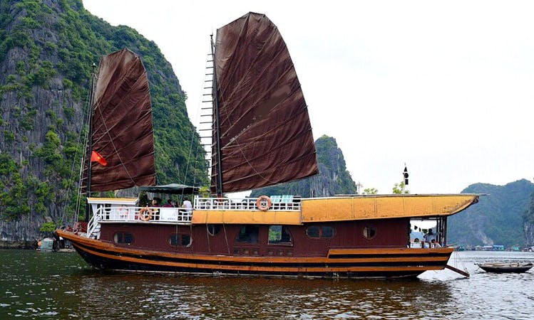 Take a voyage aboard this famous Junk Boat in Vietnam rivers!