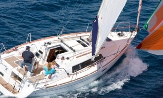 Charter A 10 Person Beneteau Oceanis Sailing Yacht In Barcelona, Spain For Your Next Sailing Escapade!