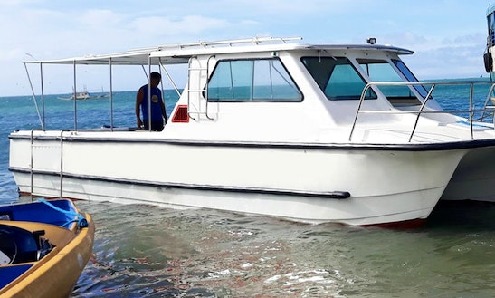 Charter A 25 Person Power Catamaran In Malay, Philippines For You Next Yacht Party!