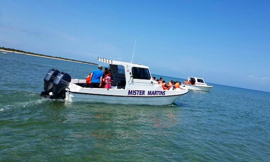 Fishing In Maputo, Mozambique On Mister Martins Cuddy Cabin