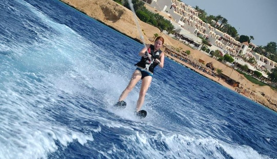 Exciting Water Skiing In South Sinai Governorate, Egypt
