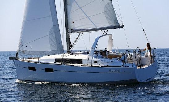 35' Beneteau Oceanis Sailing Yacht Charter In Costa Brava, Spain