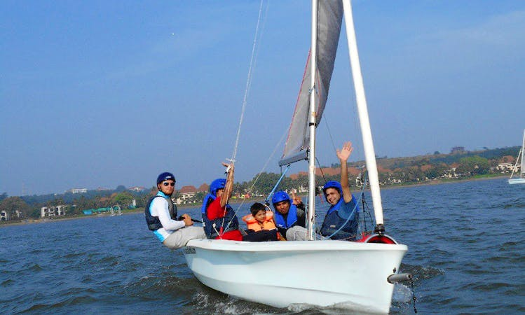 Sailing Lesson on 16' Laser Bahia Boat in Bambolim, Goa