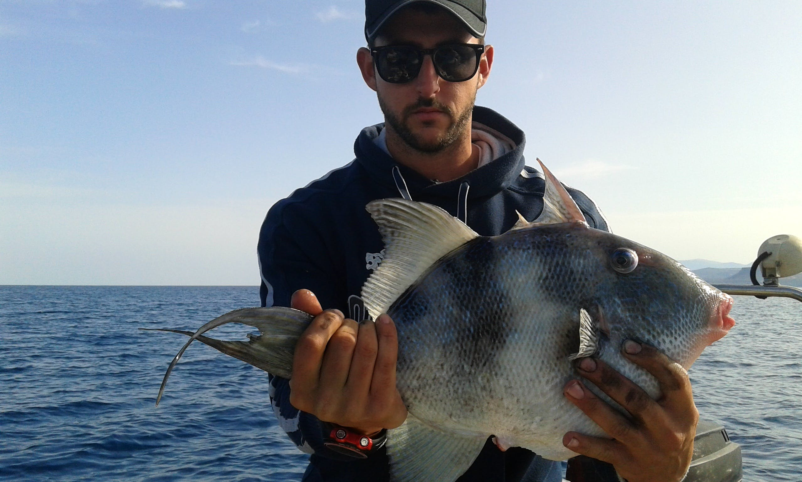 Deck Boat Fishing Charter in Agia Pelagia with Andreas
