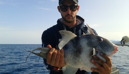 Deck Boat Fishing Charter In Agia Pelagia