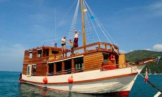 60' Custom Wooden Yacht Charter in Phuket