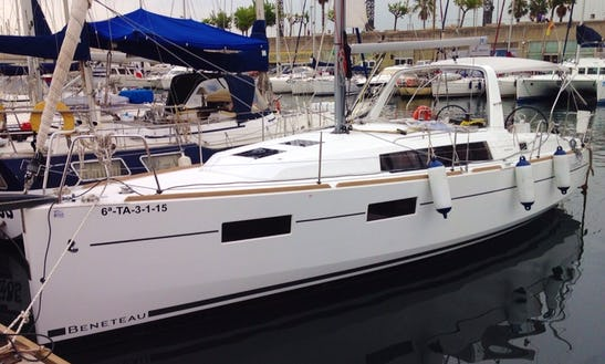 35ft Beneteau Oceanis Sailing Yacht Charter In Barcelona, Spain