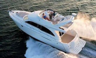 Enjoy time on the lake on a luxury yacht with 46' Meridian yacht!