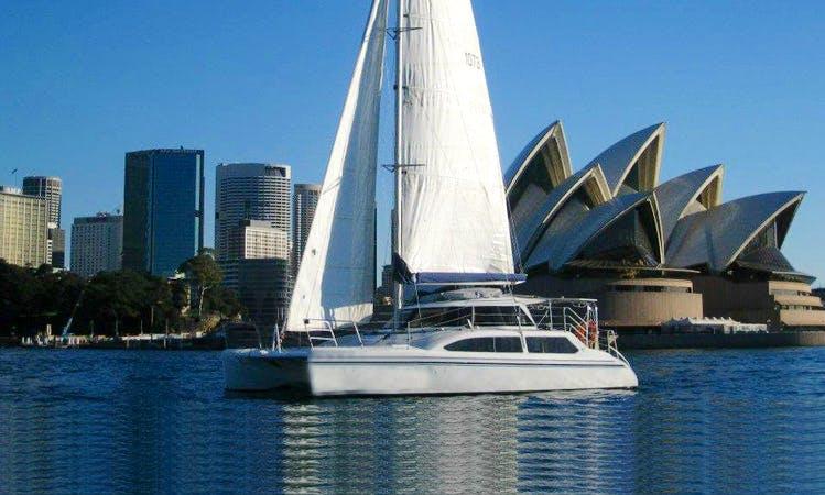 Sydney Harbour Charter on 'Sea Scape' Sailing Catamaran
