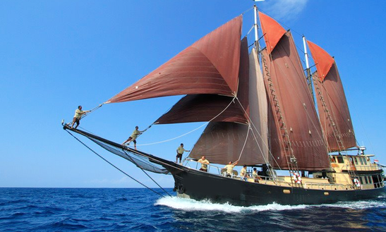 Charters 128ft Sailing Schooner In Bali, Indonesia