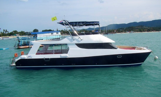 Dive And Snorkel Trip In Koh Samui, Thailand On This Dive Catamaran