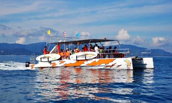 Private Catamaran Cruises Along Bangkrak Bay, Ko Samui, Thailand