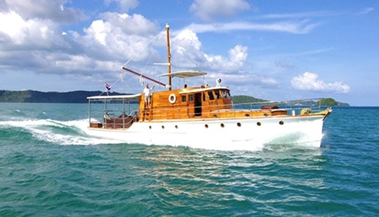 Classic 63ft Motor Yacht Charter From Phuket, Thailand