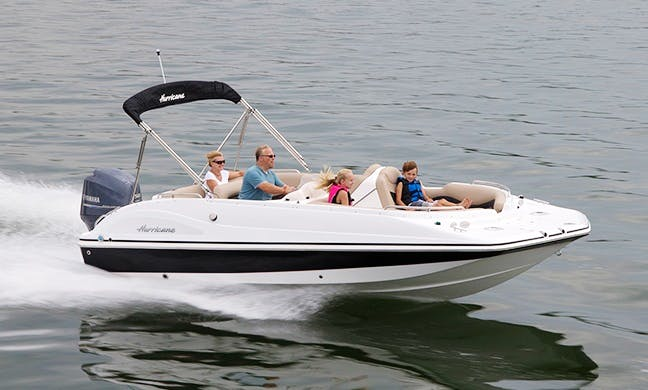 Book the 22' Hurricane Sundeck Sport 220 OB Deck Boat In Cape Coral, Florida
