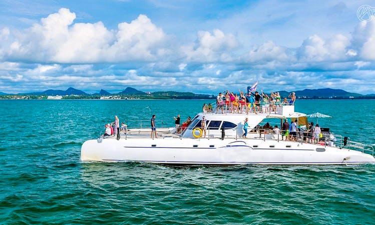 Serenity Catamaran Island Tour day trip in Pattaya Na Chom Thian, Thailand