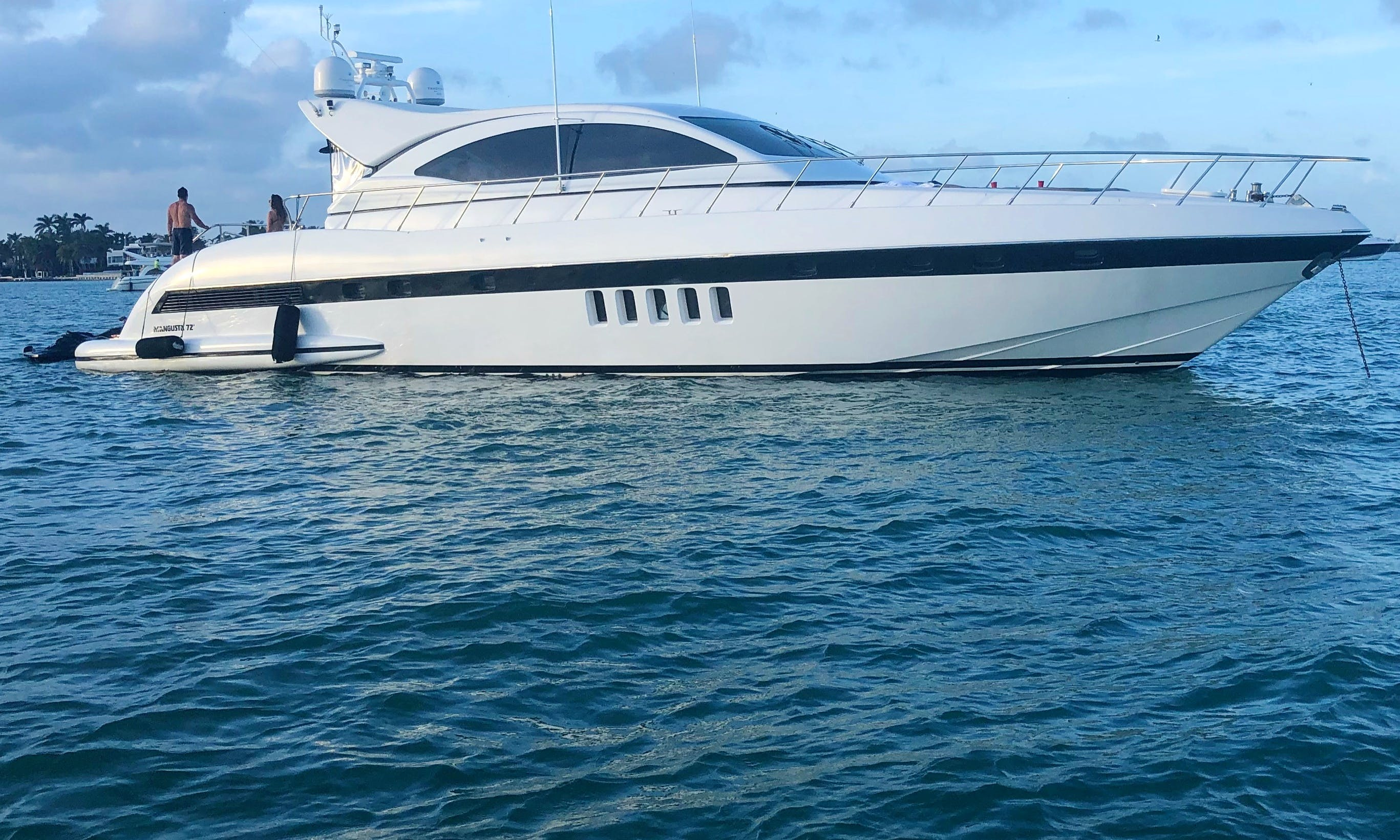 72' Mangusta YCM. Exclusive Opportunity to Charter a Celebrities Luxury Yacht.