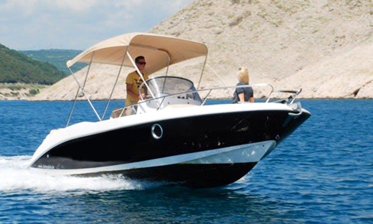 Rent 20' Sessa Marine Key Largo 20 Cuddy Cabin in Rabac, Croatia