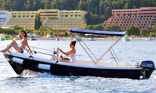 Rent 18' Remia Plast Nautika 500 Center Console In Rabac, Croatia
