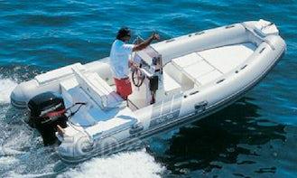 Rent 18' New Jolly Rigid Inflatable Boat in Marciana Marina, Italy