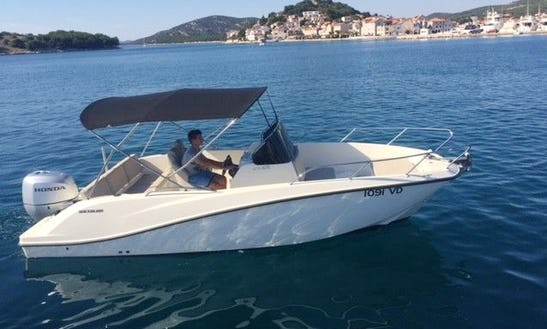 Rent 22' Baco V Center Console In Tribunj, Croatia