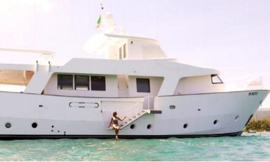 Charter 84' Shuttle Power Mega Yacht In Marciana Marina, Italy
