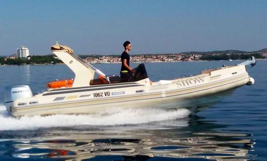 Rent 23' The Show Rigid Inflatable Boat In Tribunj, Croatia