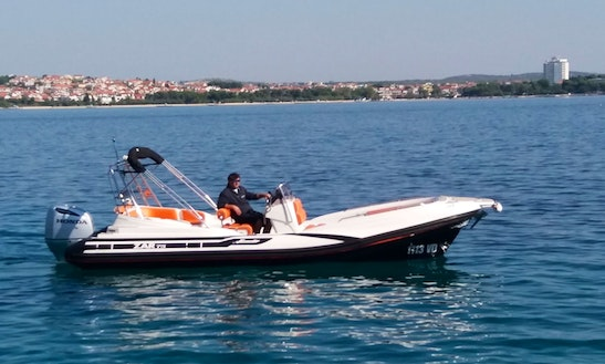 Rent 24' Zar 75 Rigid Inflatable Boat In Tribunj, Croatia