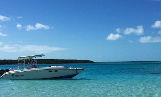 Enjoy Fishing In  Exuma, Bahamas On 33' Reel 'em In Center Console