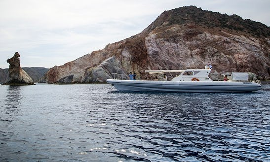 49' Volcano Rigid Inflatable Boat Available For Charter In Adamas, Greece