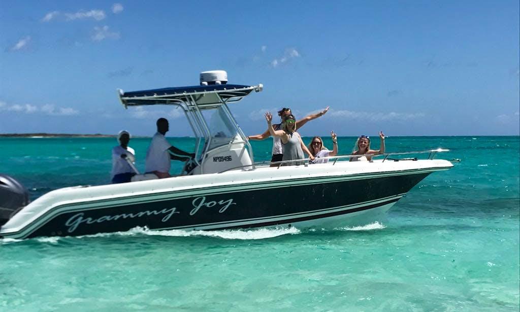Enjoy Fishing in  Exuma, Bahamas on 24' Grammy Joy Center Console