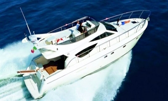 Charter 46' Ferretti Motor Yacht In Tourlos, Greece