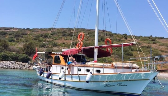 Charter 46' Junior Barka Barbaros Gulet In Bodrum, Mugla
