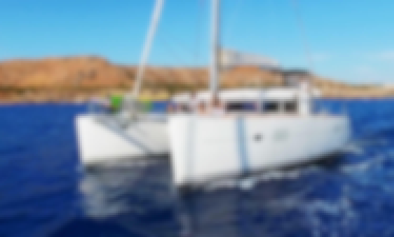 Charter a 39' Lagoon Cruising Catamarain Rodos, Greece