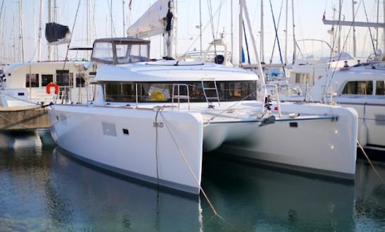 Charter 39' Ventus Cruising Catamaran In Sukošan, Croatia