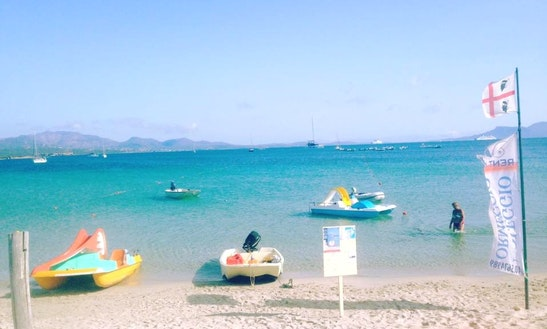 Paddle Boat For Rent In Marina Maria Beach, Loc. Murta Maria, Olbia, Italy
