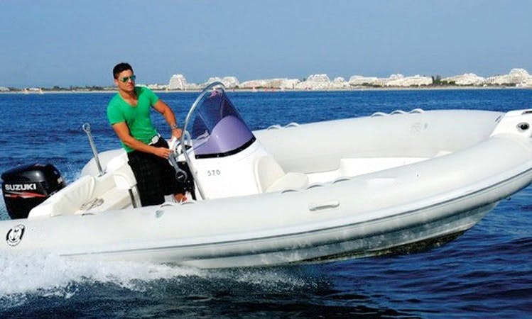 Explore Agde, France on this RIB for 6 person