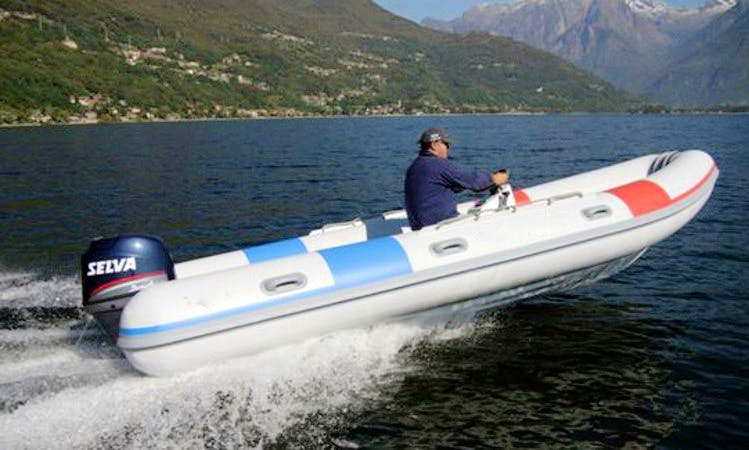 18' Inflatable Work RIB Rental In Domaso, Italy