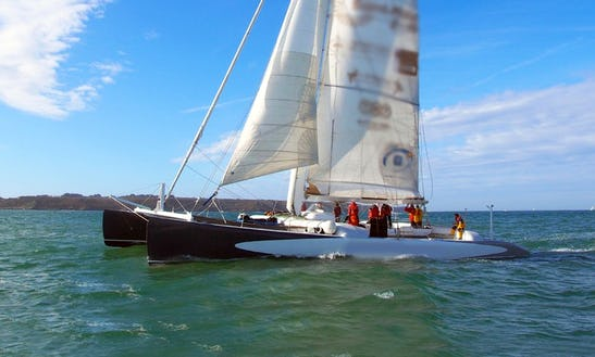 'explorer' Crewed Maxi-catamaran Racing In Lorient - Brittany - France