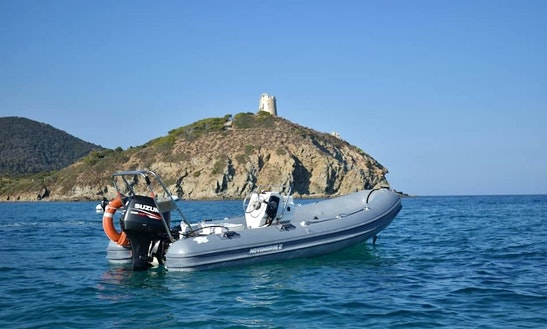 4 Person Blue Rib Rigid Inflatable Boat In For Rent In Sardegna, Italy