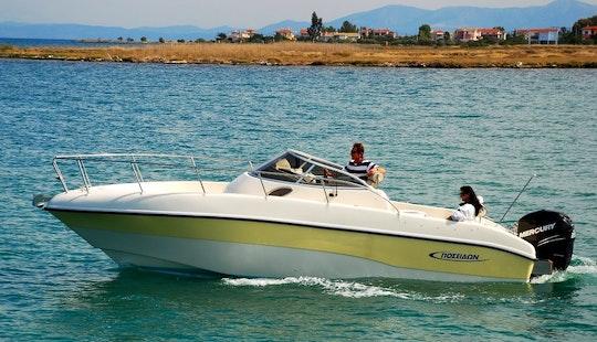 Charter Poseidon Sundeck 755 Cuddy Cabin In Kassiopi, Greecev