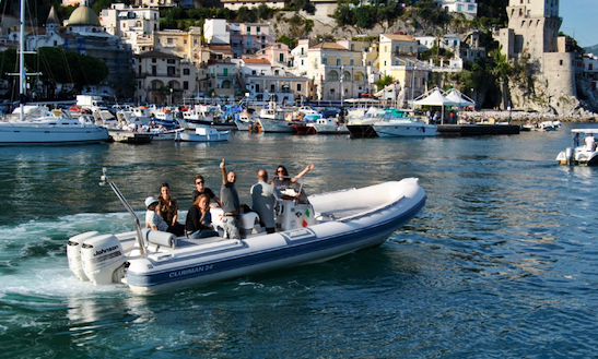 Rent 24' Joker Clubman Rigid Inflatable Boat In Salerno, Italy