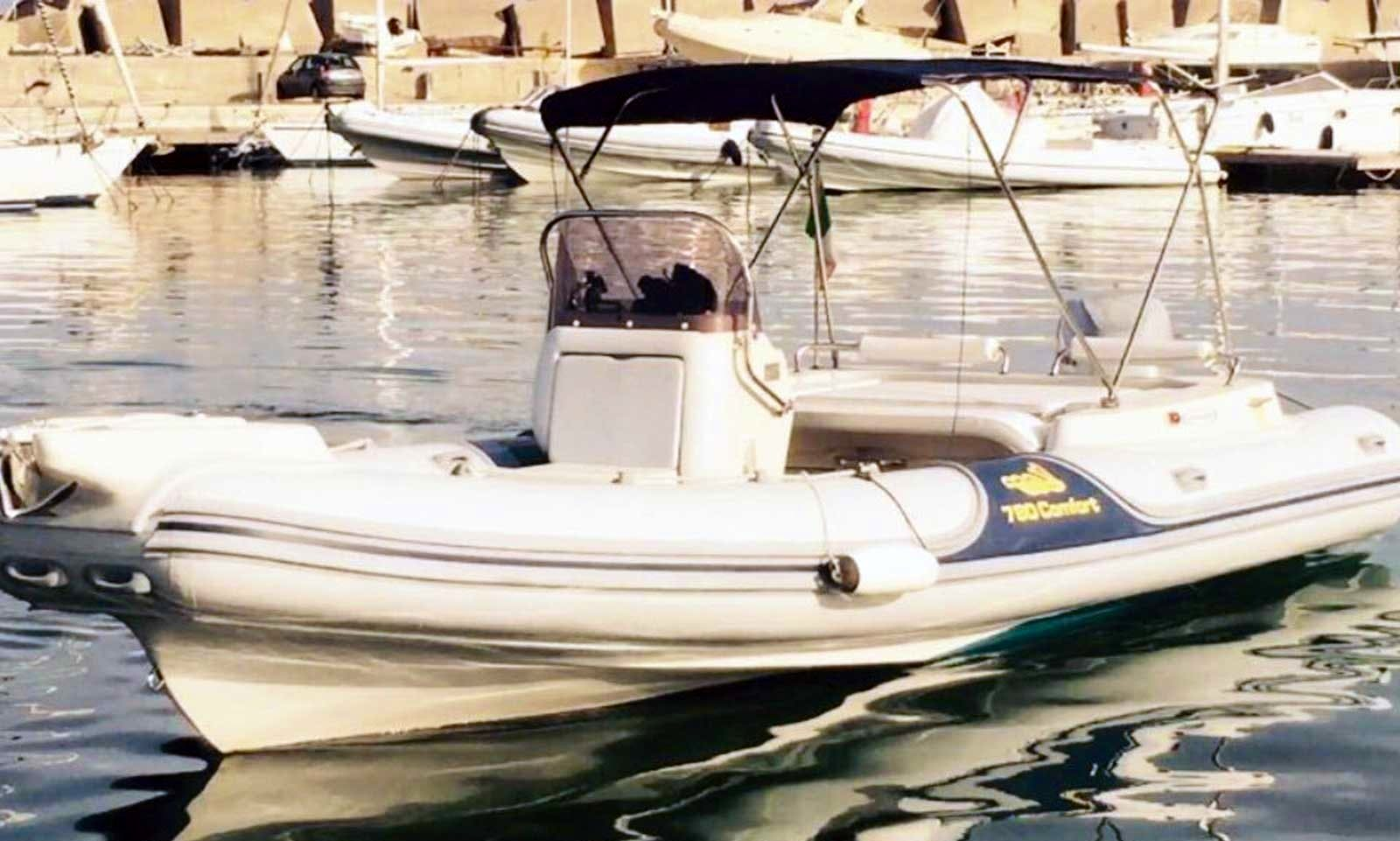 Charter 25' Cala Rigid Inflatable Boat in Palermo, Italy