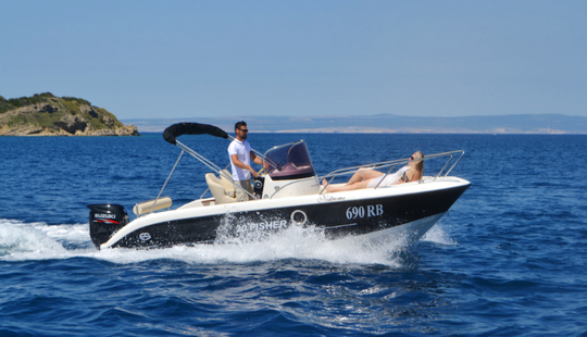 Rent 20' Fisher Sun Deck Center Console In Supetarska Draga, Croatia