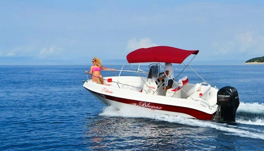 Rent 18' Blumax Center Console In Supetarska Draga, Croatia