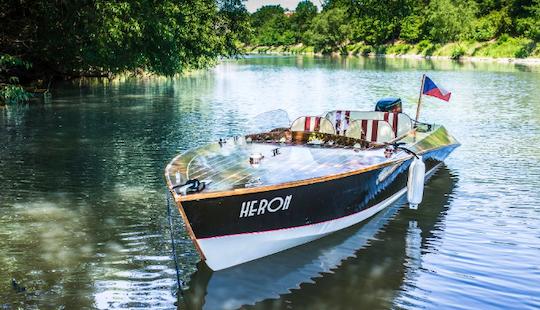 Charter Heron Canal Boat In Prague, Czechia