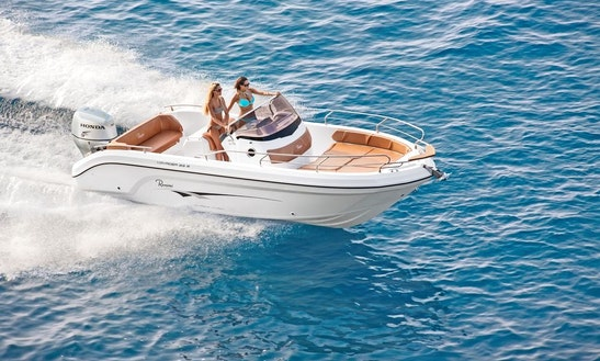 Rent 23' Ranieri Open Line Voyager Center Console In Domaso, Italy