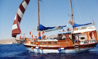 Have an amazing time in Eilat, Israel Charter a 35-person Gulet